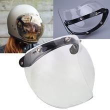 Vehemo Donne Degli Uomini Motocicletta del motociclo Del Casco Lente Bolla Vento Shield Visor Pieno Viso Specchio con 3 Bottoni a Pressione di Base Trasparente
