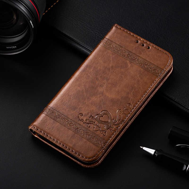 AMMYKI TCL S820 حافظة جلد مغناطيسي جودة ظهر هاتف محمول غطاء 4.7 'For الكاتيل بلمسة واحدة المعبود 6030 OT6030 OT-6030