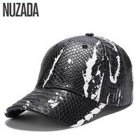 Brand NUZADA PU Leather Spring Summer Autumn Men Women Couple Baseball Cap Street Cool Style Caps