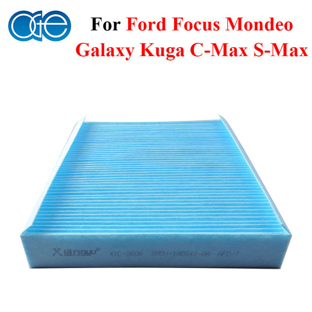 Car Carbon Cabin Air Filter For Ford Focus Mondeo Kuga Galaxy C-Max S-Max 5M5H-18D543-AA, 1315686, 3M5J18D543BA, 3M5J19G244AA3M