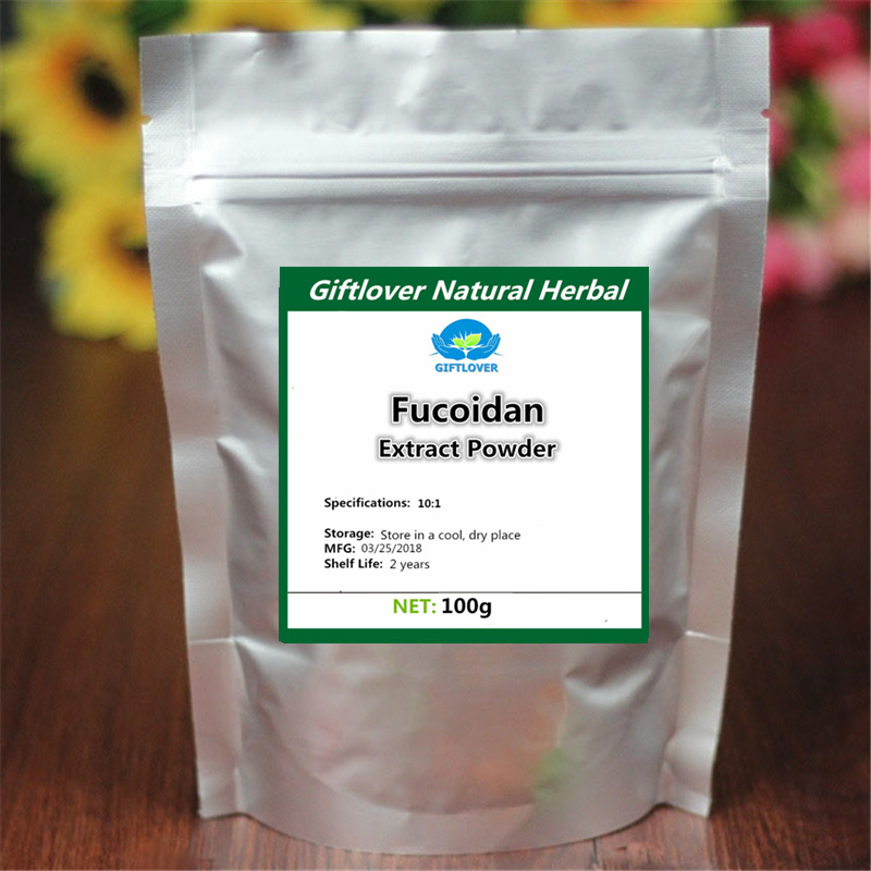 2018 Pure Fucoidan 10:1 Extract Powder, 20% Ycophaein ,He Zao,Kelp Extract,Phaeophyta,Natural & High Quality with Free Shipping цена и фото
