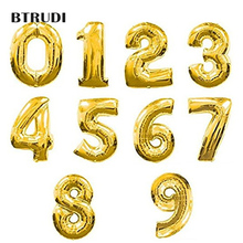 ФОТО btrudi 40inch letter balloons gold foil balloon helium number air balloon event party  happy birthday wedding decoration supplie
