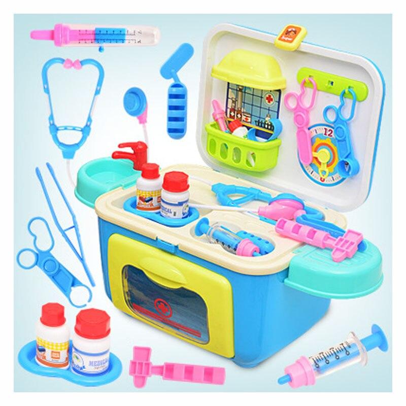 Appareil de médecine stéthoscope pour enfants jouets éducatifs simulation docteur jouet armoire à pharmacie Portable