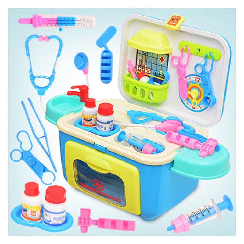 Childrens Stethoscope Medicine Device educational toys simulation doctor toy Portable Medicine Cabinet
