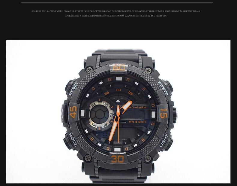 Trendy wasserdichte uhren für männer original mann watchs esportivo herren marke digitales uhr military uhr taktische sport mode
