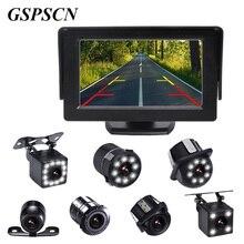 Gspscn 4.3 дюймов автомобиля HD Мониторы с Ночное Видение заднего вида Камера комплект автопарк резервного обратный Мониторы TFT ЖК-дисплей Цвет дисплея