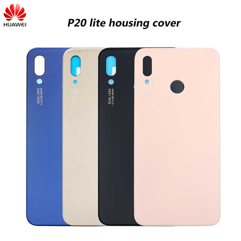 Original Battery Cover Back Glass Door Housing Case For Huawei P20 Lite/Nova 3e Battery Cover Replacement Parts 5.8 inch