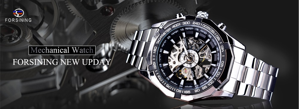 HTB1du jgr2pK1RjSZFsq6yNlXXaQ Forsining Men Watches Top Brand Luxury Mechanical Skeleton Watch Black Golden 3D Literal Design Roman Number Black Dial Clock