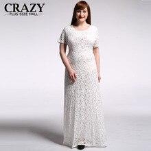 Plus Size Lace font b Dress b font 2016 XL 9XL Women Elegant Black White font