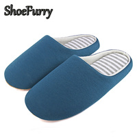 ShoeFurry Winter Men Home Slippers Casual Shoes Warm Plush Male Indoor Slippers Cotton Shoes Antiskid Mute Man Bedroom Slippers
