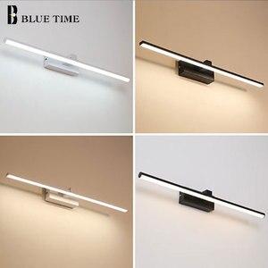 Image 5 - Yeni tasarım moda LED duvar lambaları banyo başucu Modern ayna ön işık siyah & beyaz bitmiş LED duvar ışıkları AC220V110V