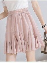 JUJULAND Women Chiffon Pleated Skirt Vintage High Waist Tutu Skirts Womens Saia Midi Rokken Summer Style Jupe Femme 0168