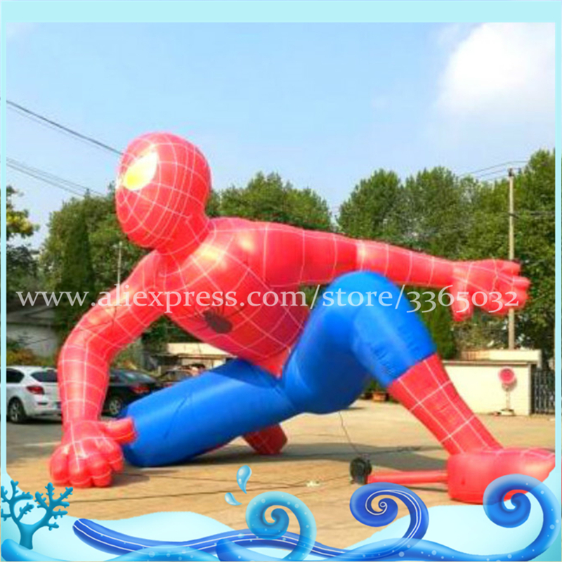 Inflatable spiderman Tops popular opening event inflatable cartoon for human size cartoon costume advertising equipment for sale