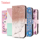 Flip Leather Case sFor iPod touch 5 6 Coque For Apple iPod touch 5 6 Wallet Cover Marble Unicorn Flower Dog Case
