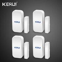 Kerui alarme à la maison sans fil porte fenêtre détecteur magnétique capteur d'espace pour GSM Wifi système d'alarme de sécurité à domicile clavier tactile