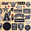 1 PCS Patches for Clothes Applications Stickers Free Shipping Iron on Patches on Clothing Labels Stripes Embroidered Patch