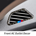 Carbon Fiber Refit Car AC Outlet Frame Stickers Air Condition Vents Air Outlet Trim Decor for BMW X5 E70 X6 E71 2008-2013