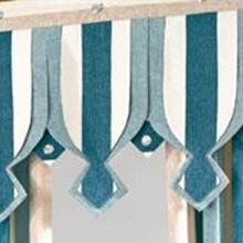 Синий Полосатый балдахин для штор cortinas dormitorio