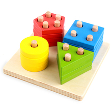 Baby toys wooden block digital aids multicolor chopping montessori education for kids learning toys for child gift