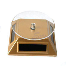 360 Berputar Turn Table Piring Solar Power untuk Jam Tangan Ponsel Perhiasan Display Stand(China)