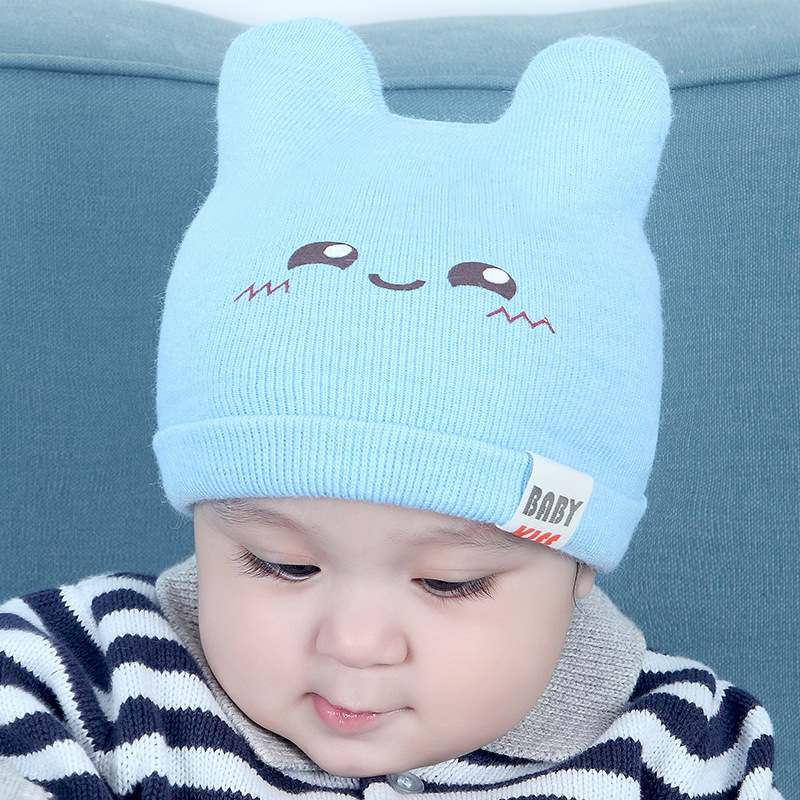 c589582b1bb New Baby Hats Autumn and Winter Knitted Caps Korean Cartoons Pattern Infant  Girl Boy Hats for 0 6 12 months 5 Colors-in Hats   Caps from Mother   Kids  on ...
