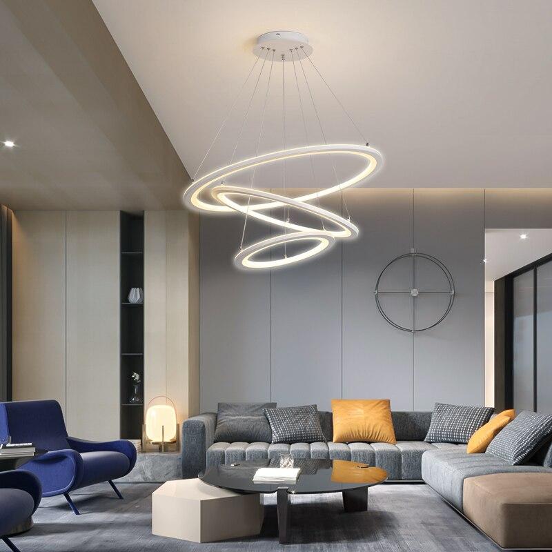 Modern Led Pendant Lights Ring Circular Light For Home