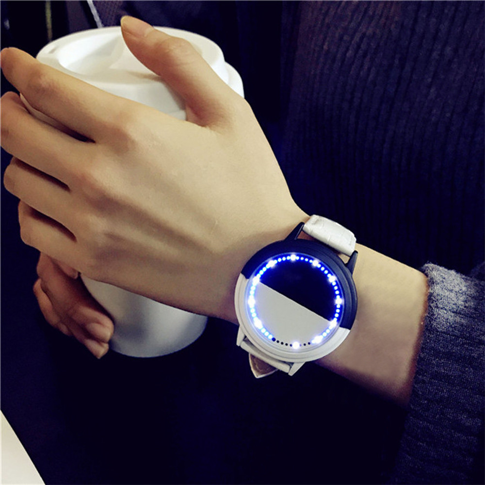 Fashion Waterproof LED Watch Men And Women Lovers Watch Smart Electronics Watches Creative Bayan Kol Saati Erkek Kol Saati