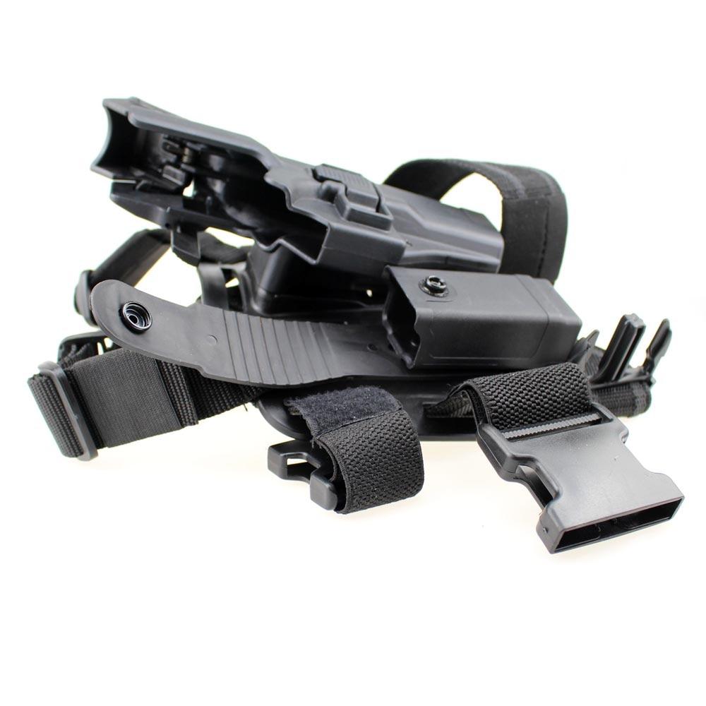 Tactical Glock Leg Holster Right Thigh Paddle Belt Level 3 Lock Duty