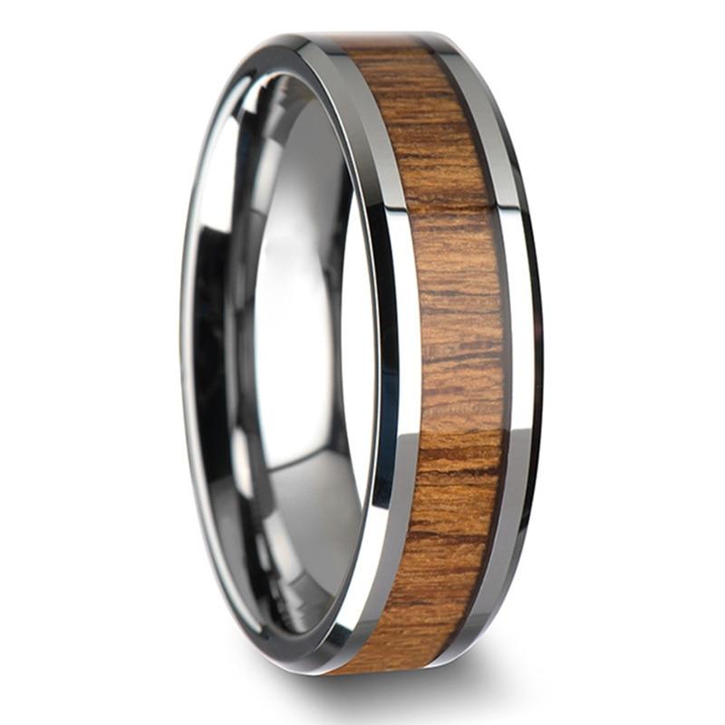 The new European and American fashion high quality Mosaic teak titanium steel ring