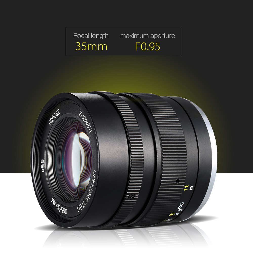aliexpresscom buy zhong yi optics 35mm f095 aps c full frame camera lens for sony e mount camera portrait photography from reliable lens nikkor
