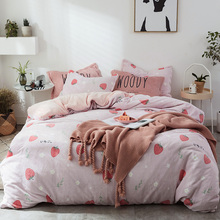 4PCS A Lot Flannel Bedding Set Twin Queen King Size Duvet Cover Set Thick Quilt Cover Bed Sheet and Pillowcase Adult Bed Set
