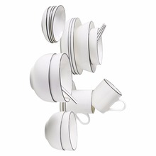 GUCI  22 pieces Bone Porcelain Tableware Set Home Bowl Japanese Style Simple  6 People Ceramic Korean Wedding Gift Set