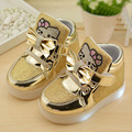 1pair Spirng Autumn Children girl's kid's girl  PU shoes hello kitty fashion light  sport shoes 3colors 21-30