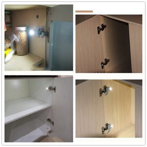 Image 4 - Hot Sale Under Cabinet LED Hinge Light Universal Kitchen Bedroom Living Room Cupboard Wardrobe Inner Auto Switch Light 10pcs