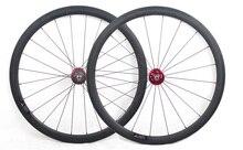 32 holes track fixed gear single speed 700C carbon bicycle wheels 38mm deep tubular bike wheels 700C by hub A165SBT A166SBT