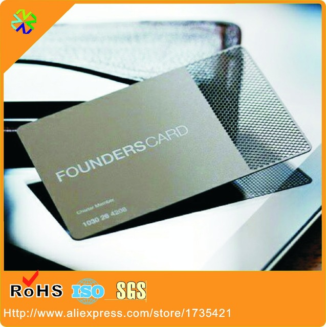 Hole engraved stainless steel business membership cards in business hole engraved stainless steel business membership cards reheart Images