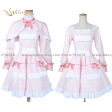 Kisstyle Fashion Another Mei Misaki LO Pink Dress Cloak Uniform COS Clothing Cosplay Costume,Customized Accepted