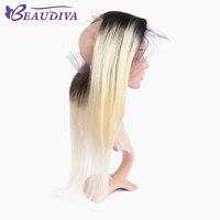 Beau Diva предварительно Цветной человеческих волос прямой 360 кружева фронтальной 22*4*2 кружева Размеры 1B/ 613 блондинка бразильский Инструменты д