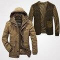 A Qualidade superior Da Marca Casuais Espessamento de Algodão-Acolchoado Jaqueta de Moda de Nova Homens Jaqueta de Inverno Clássico Quente Casaco Grosso Parkas Tamanho L-4XL