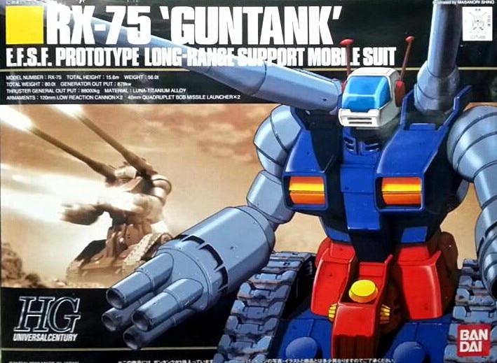 1PCS Bandai HG HGUC 007 RX-75 Guntank Assembled model Gundam Mobile Suit Assembly Model Kits Anime action figure Gunpla juguetes ohs bandai mg 179 1 100 sengoku astray gundam mobile suit assembly model kits