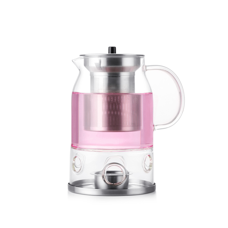 Simple Design Teapot with Infuser Candle Warmer 600 ml Complimentary Candles Pack Traditional Chinese Tea Set