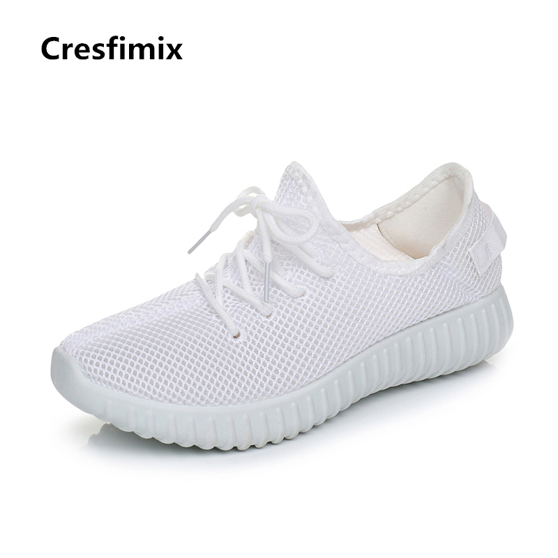 Cresfimix women casual breathable soft shoes female cute spring & summer comfortable slip on shoes lady cool outdoor flat shoes cresfimix sapatos femininos women casual soft pu leather pointed toe flat shoes lady cute summer slip on flats soft cool shoes