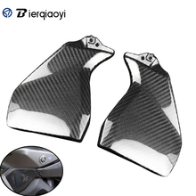 цена на For YAMAHA MT-09 FZ-09 MT09 FZ09 2014 2015 2016 2017 MT 09 FZ 09 Real Carbon Fiber Gas Tank Side Cover Trim Fairing Motorcycle