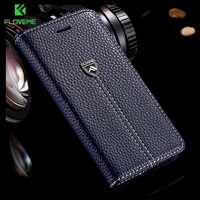 Original FLM Brand Luxury Magnetic Flip Leather Case For Apple IPhone 6 Plus 5 5 Inch