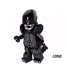 Single Sale Super Hero Star Wars 1050 Alien Xenomorph Mini Building Blocks Figure Bricks Toy kids gift Compatible Legoed Ninjaed(China)
