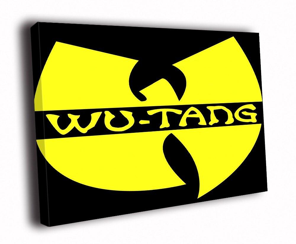Impression sur toile HD peinture-Logo du Clan wu-tang hip-hop musique Rap Art D4987