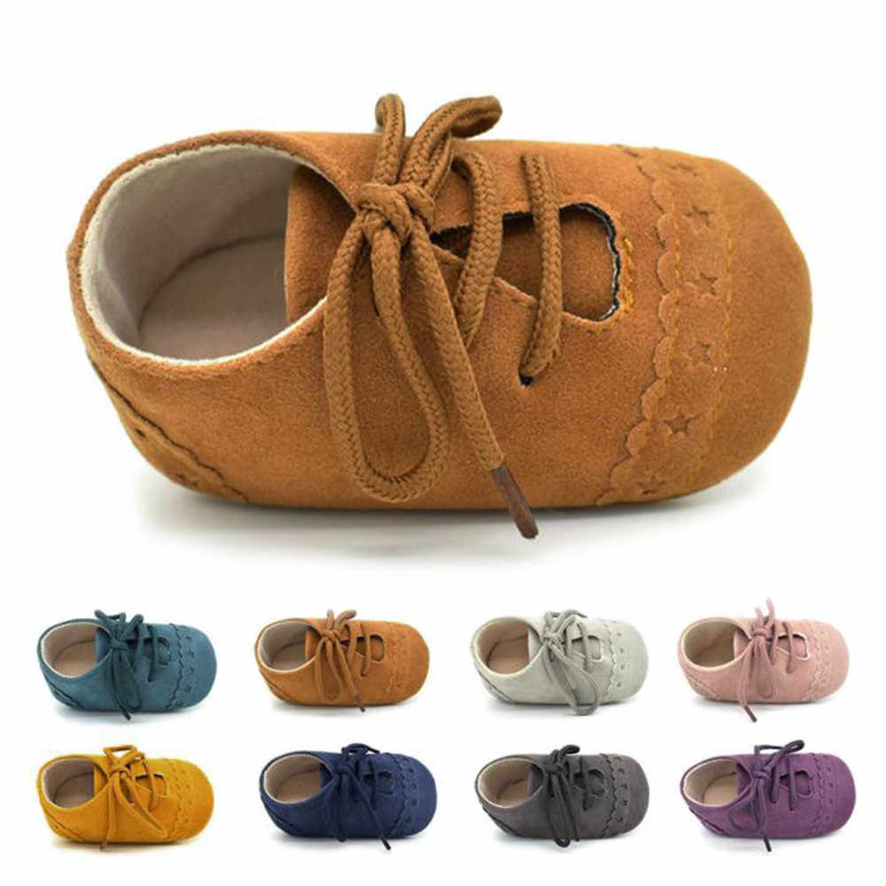 Infant Boys Girls Shoes Sole Lace Up Warm Martin Kids Booties Shoe Newborn Toddler First Walker Soft Sole Anti-Slip BTTF