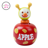 Umu Klinkende Hout Speelgoed Voor Kinderen Kid Apple Educatief Speelgoed Telefoon Kind Clown Mini Hout Speelgoed Maat 11.4*6.8 cm