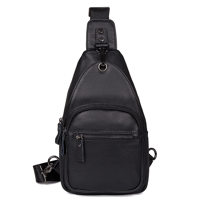 J.M.D High Quality Real Leather Fashion Casual Chest Bags Cross Body Shoulder Bag For Men 4008A/4008C