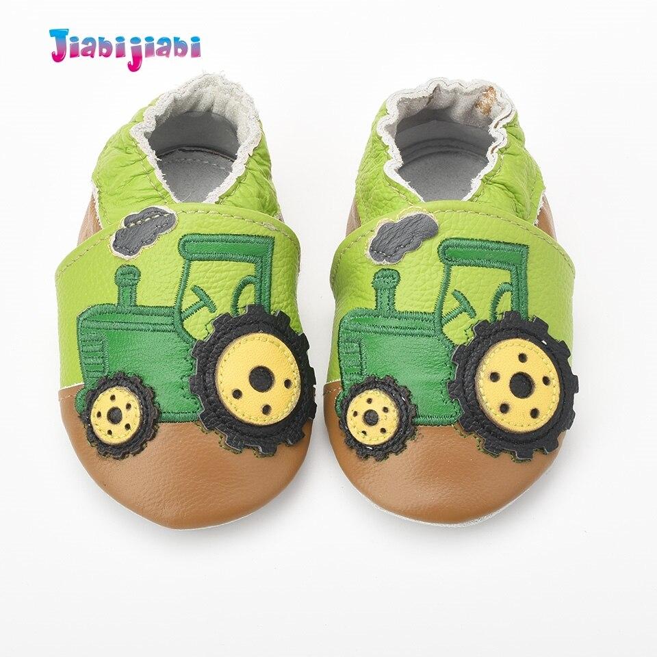 Nieuwe baby lederen schoenen jongen schattige trekker auto schoenen - Baby schoentjes - Foto 2
